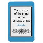 Motivational Aristotle Quote Magnet :Life