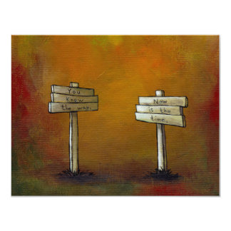 Motivational art fun unique painting Watch 4 Signs Card