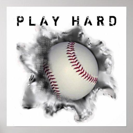 motivational baseball gifts poster