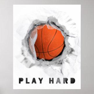 motivational BASKETBALL saying Poster