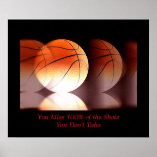 Motivational Basketball Sport Inspirational Poster