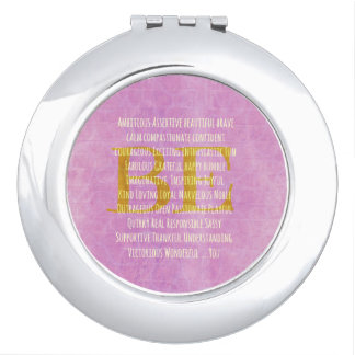 Motivational Be You Quote Makeup Mirrors