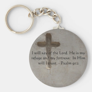 Motivational. Bible Verse Psalm 91:2 Keychain