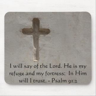 Motivational. Bible Verse Psalm 91:2 Mouse Pad