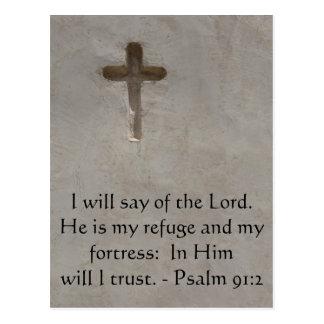 Motivational. Bible Verse Psalm 91:2 Postcards