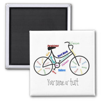 Motivational Bike, Bicycle, Cycling, Sport, Hobby 2 Inch Square Magnet