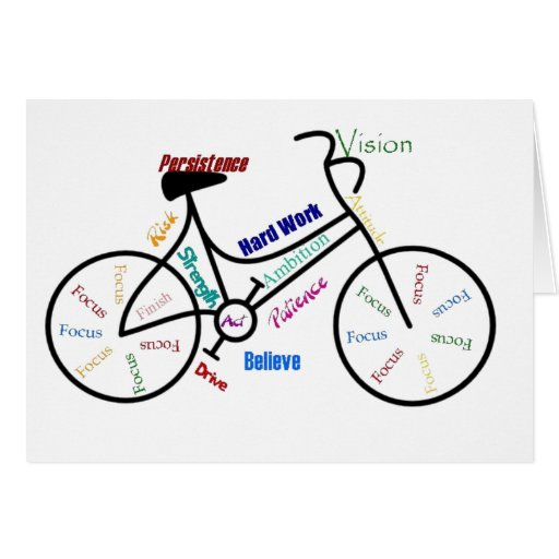 Motivational Bike, Bicycle, Cycling, Sport, Hobby Greeting Card