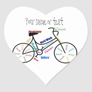 Motivational Bike, Bicycle, Cycling, Sport, Hobby Heart Sticker