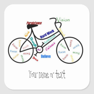 Motivational Bike, Bicycle, Cycling, Sport, Hobby Square Sticker
