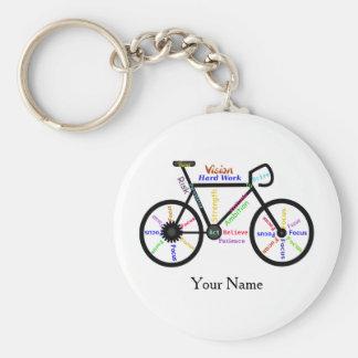 Motivational Bike, Cycle, Biking Sport Custom Name Keychain