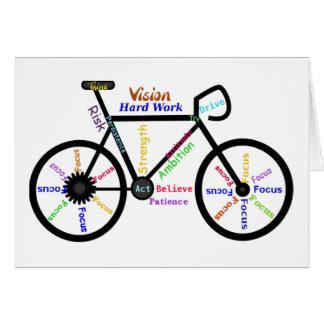 Motivational Bike, Cycle, Biking, Sport Words Greeting Card