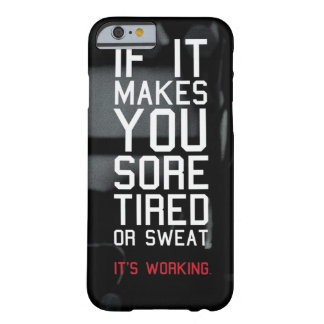 Motivational Bodybuilding Gym Barely There iPhone 6 Case