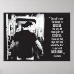 Motivational Bodybuilding Poster - Confucius Quote