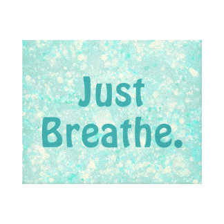 Motivational Breathe Quote with Bokeh Canvas Print