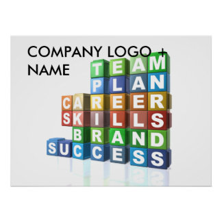 Motivational business buzzwords poster