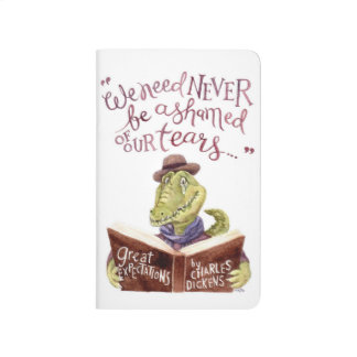 Motivational Charles Dickens Quote Watercolor Croc Journal