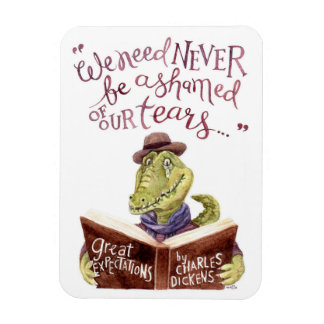 Motivational Charles Dickens Quote Watercolor Croc Magnet