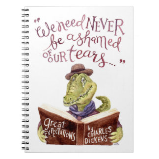 Motivational Charles Dickens Quote Watercolor Croc Notebook