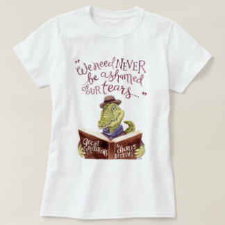 Motivational Charles Dickens Quote Watercolor Croc T-Shirt