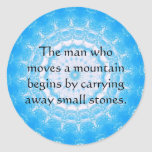 Motivational Chinese proverb Classic Round Sticker