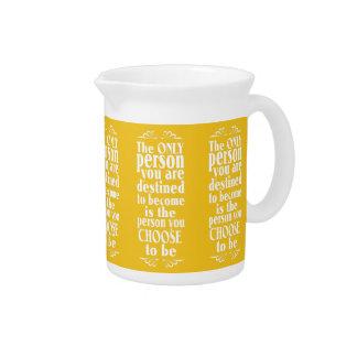Motivational CHOICE custom color pitcher