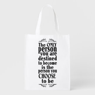 Motivational CHOICE custom color & text bag Market Tote