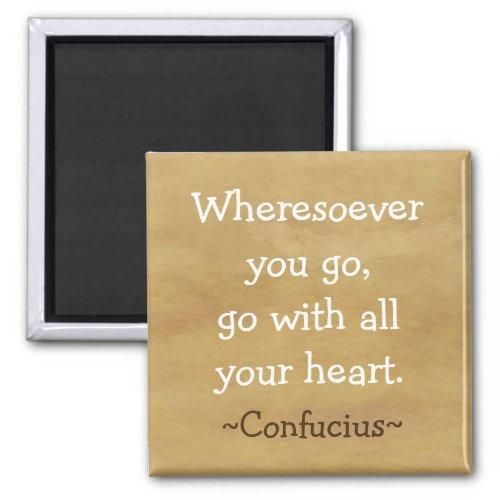 Motivational  Confucius Quote 2 Inch Square Magnet