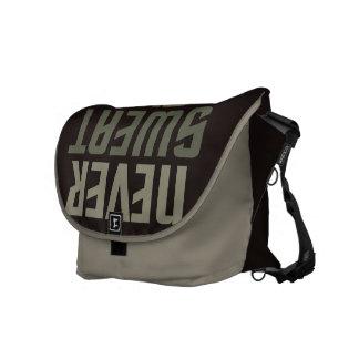 Motivational custom monogram messenger bags