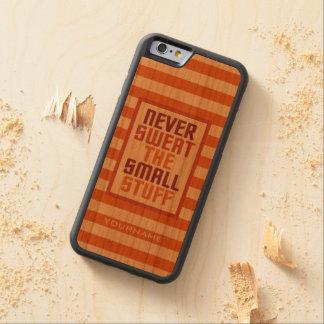 Motivational custom monogram wood cases carved® cherry iPhone 6 bumper case