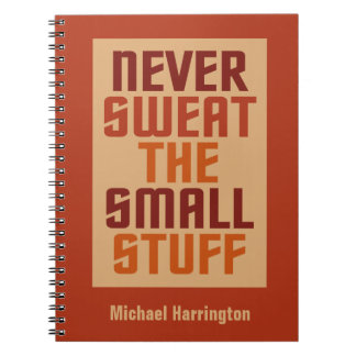 Motivational custom name notebook