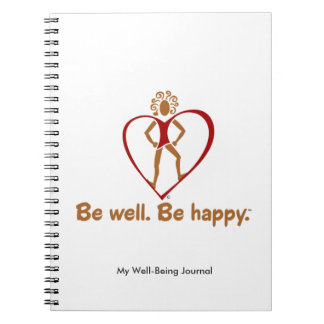 Motivational design for greater well-being spiral notebook