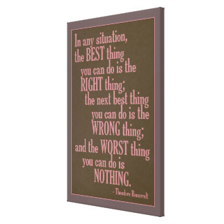 """Motivational """"Do Something"""" Quote canvas print"""
