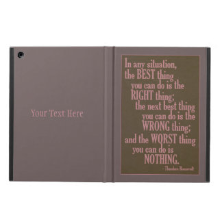 """Motivational """"Do Something"""" Quote cases iPad Air Cover"""