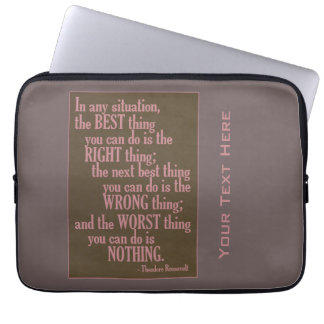 """Motivational """"Do Something"""" Quote laptop sleeves"""