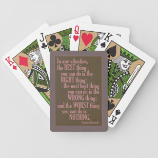 """Motivational """"Do Something"""" Quote playing cards"""