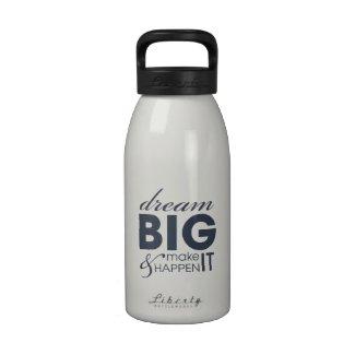 Motivational Dream Work Success 16 oz Small Bottle Water Bottle
