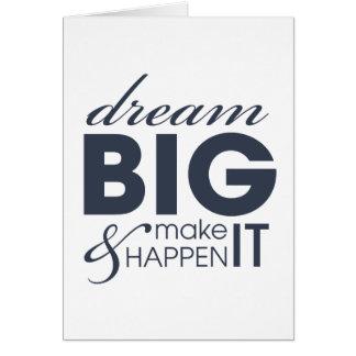Motivational Dream Work Success Greeting Card