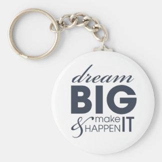 Motivational Dream Work Success Basic Round Button Keychain