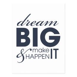 Motivational Dream Work Success Postcard
