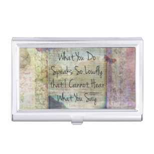 Motivational quotes business card holders cases zazzle motivational encouraging life quote business card holder reheart Choice Image