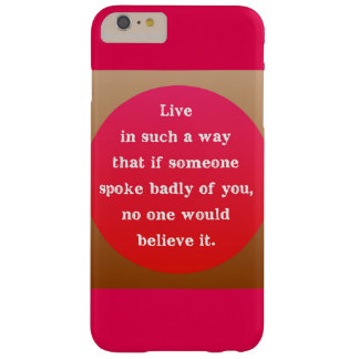 Motivational Encouraging Quote Graphic Typography Barely There iPhone 6 Plus Case