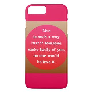 Motivational Encouraging Quote Graphic Typography iPhone 8 Plus/7 Plus Case