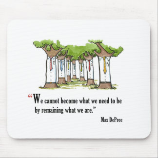 Motivational exam quote by Max DePree - Mouse Pad