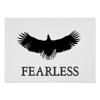 Motivational Fearless Leader Landing Eagle Poster