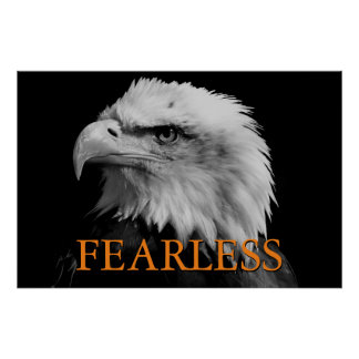 Motivational Fearless Leadership Eagle Poster