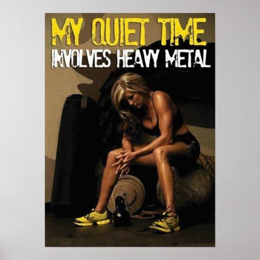 Motivational Female Fitness Gym Poster