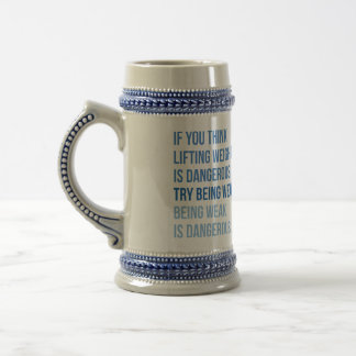 Motivational Fitness Gym Beer Stein