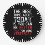 Motivational Fitness Gym Large Clock