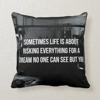 Motivational Fitness Gym Throw Pillows