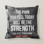 Motivational Fitness Gym Throw Pillow